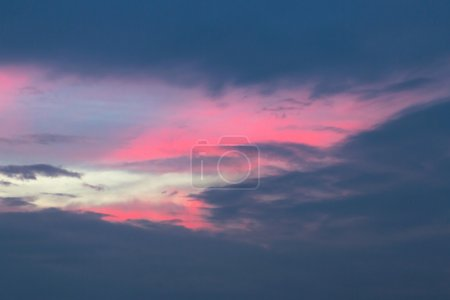 Photo for Sunset on the sky background - Royalty Free Image