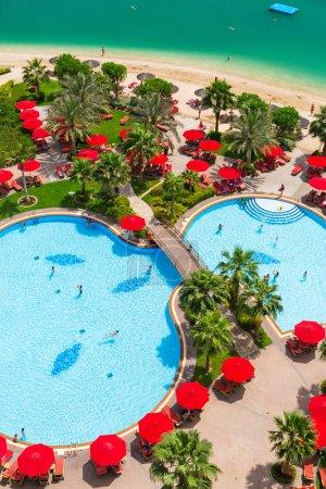 Tropical swimming pools at Arabian Sea