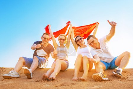 Photo for Group of happy people on summer holidays - Royalty Free Image