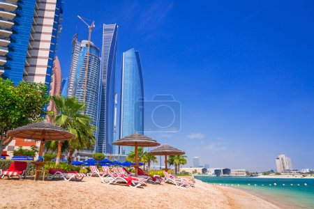 Holidays on the tropical beach in Abu Dhabi