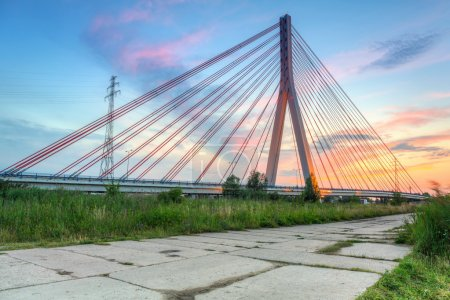 Cable stayed bridge in Gdansk