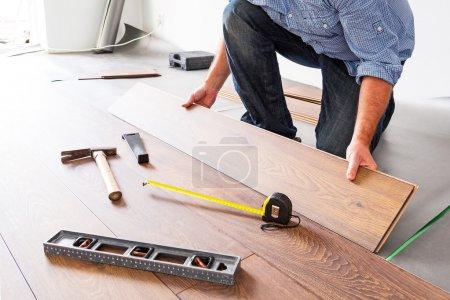 New wooden floor instalation