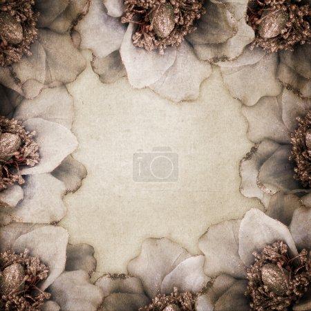 Photo pour Contexte de la carte de félicitations avec des fleurs - image libre de droit