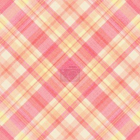 Photo pour Été rose, jaune, blanc à carreaux - image libre de droit
