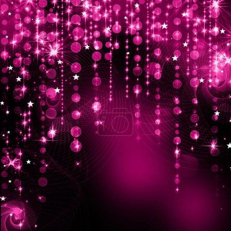 Fondo abstracto elegante con luces y estrellas desenfocadas bokeh