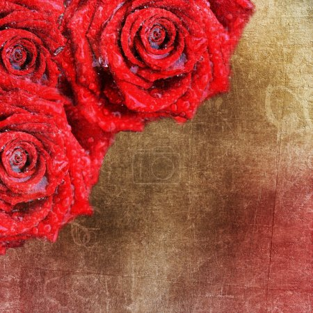 Photo for Backgrounds with red roses for Valentines day or Wedding - Royalty Free Image