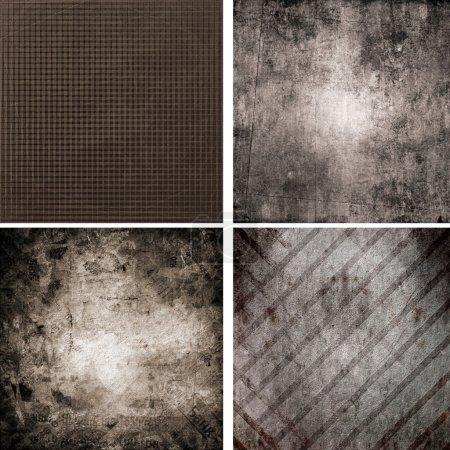 Photo pour Ensemble de quatre décors rétro différents - image libre de droit