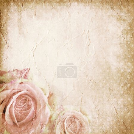 Photo for Paper background with rose - Royalty Free Image