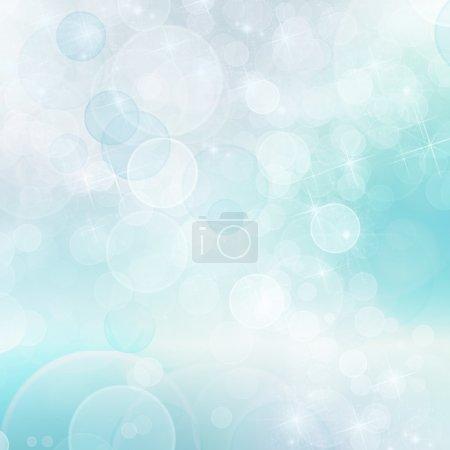 Photo pour Abstrait bleu fond bokeh - image libre de droit