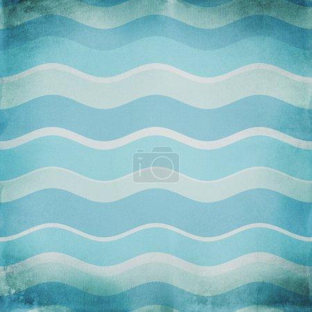 Photo pour Fond bleu de vagues abstraites - image libre de droit