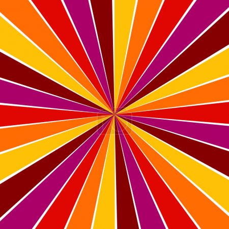 Photo for Sunburst rays of red, yellow, orange and pink background - Royalty Free Image