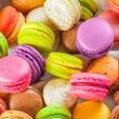 Traditional french colorful macarons in a box...