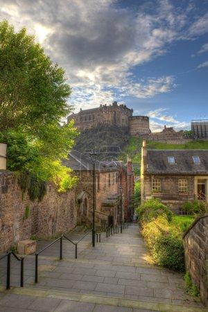 Photo pour Vue sur le château d'Édimbourg de heriot place, edinburgh, scotland, Royaume-Uni - image libre de droit