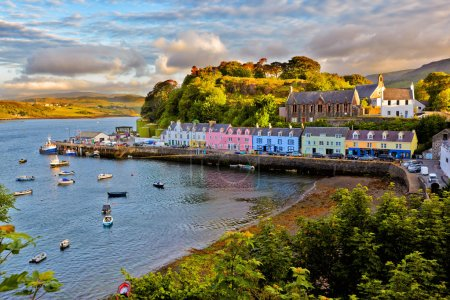 View on Portree, Isle of Skye, Scotland