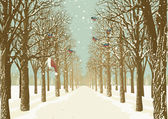 Walkway with trees