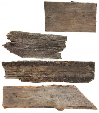 Four old wooden boards. Wood plank,