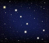 Cosmos Constellation URSA Major star in the night sky Vector illustration
