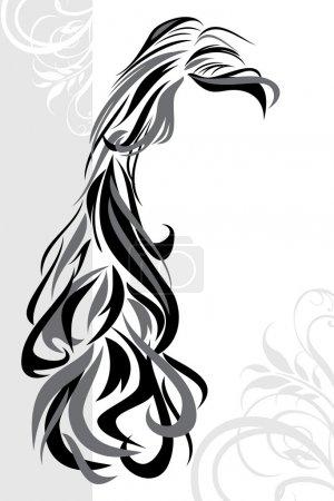 Illustration pour Fond de coiffure abstrait. Illustration vectorielle - image libre de droit