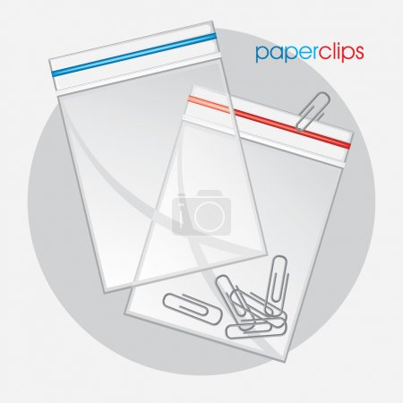 Paperclips in plastic bag