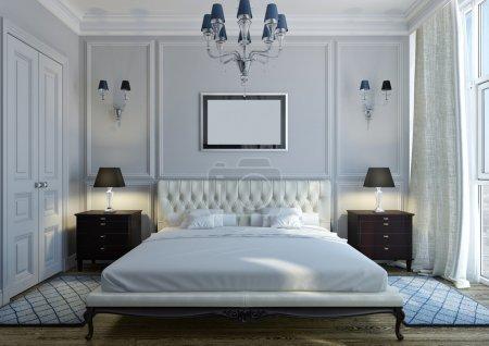 Photo pour Intérieur d'une chambre classique avec mobilier cher - image libre de droit