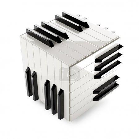 Photo pour Illustration haute résolution du concept de clavier piano - image libre de droit