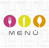 Menu with cutlery sign over white background vector illustration