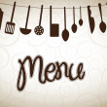 Cookware over vintage background vector illustrati...