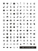 Black silhouettes icons over white background vector