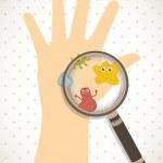 Cute germs over beige background. vector illustrat...