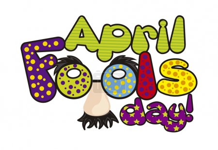 Illustration for April foods day illustration with words. vector background - Royalty Free Image