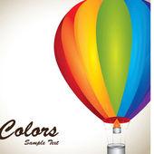 Ballooning colors over vintage background vector illustration