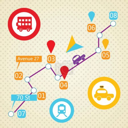 Illustration for Travel and Transport Colorful Icons (collection set) - Royalty Free Image