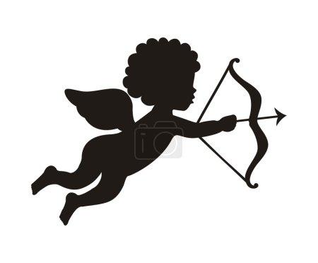 Illustration pour Cupidon isolé sur fond blanc. illustration vectorielle - image libre de droit