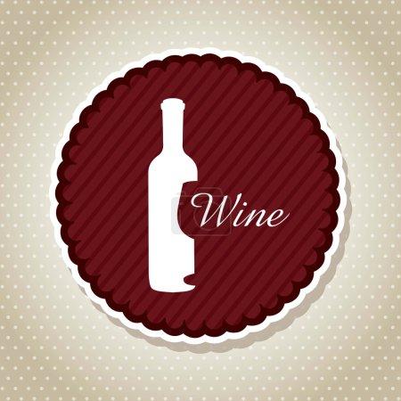 Illustration for Wine label over beige background. vector illustration - Royalty Free Image
