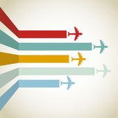 Horizontal Aircraft line over vintage background vector illustration