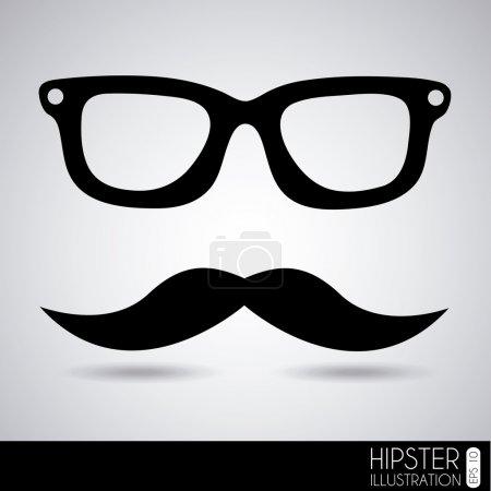 glasses and mustache