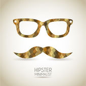 Hipster icon over vintage background vector illustration