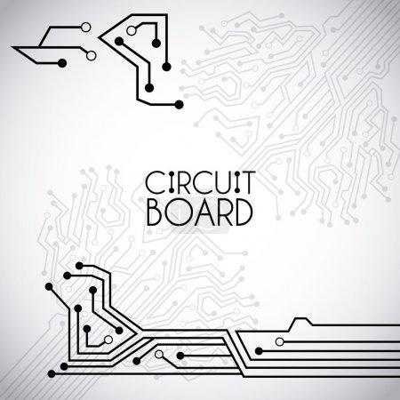 Illustration pour Circuit imprimé sur fond vintage ilustration vectorielle - image libre de droit