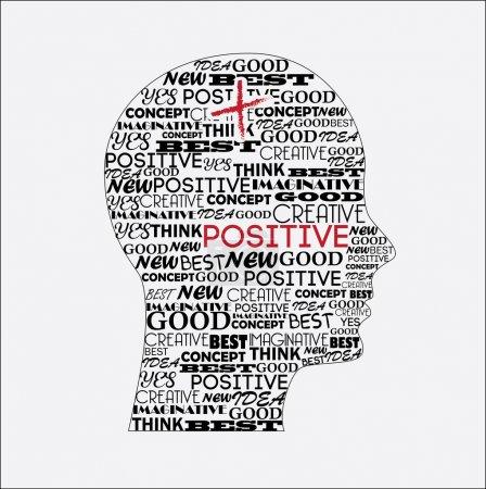 Illustration for Positive mind over white background vector illustration - Royalty Free Image
