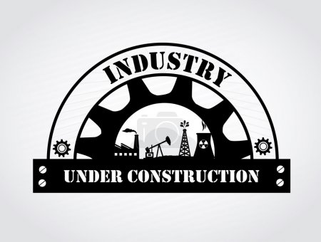 Illustration for Industry design over gray background vector illustration - Royalty Free Image
