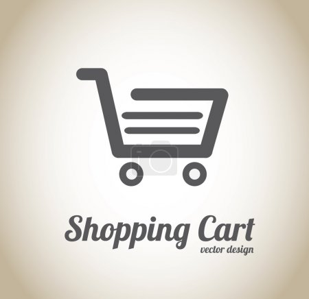 Illustration pour Shopping cart conception sur illustration vectorielle sur fond beige - image libre de droit