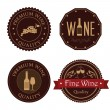 Wine seals over white background vector illustrati...