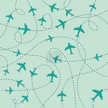 Illustration for Travel skin over blue background vector illustration - Royalty Free Image