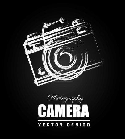 Camera design over black background vector illustr...