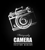 Camera design over black background vector illustration