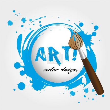 Illustration for Art design over white background vector illustration - Royalty Free Image