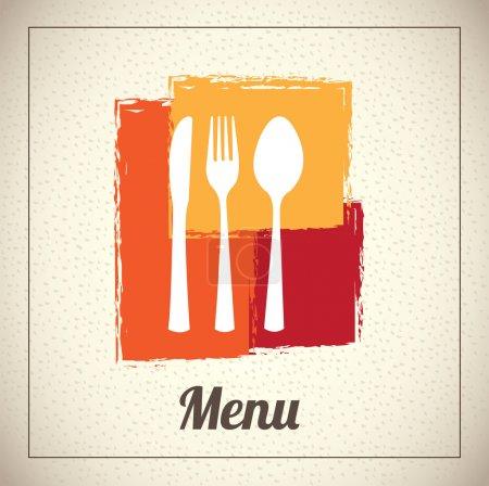 Illustration pour Conception de menu sur fond beige illustration vectorielle - image libre de droit