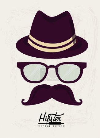 Illustration for Hipster design over white background vector illustration - Royalty Free Image