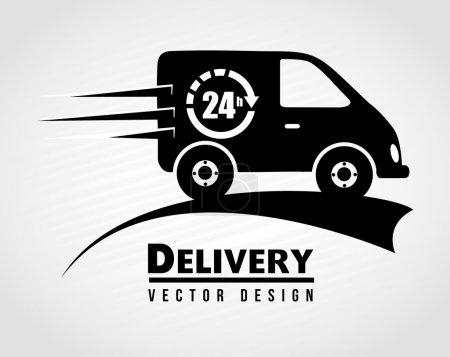 Illustration pour Icône de la livraison gratuite sur illustration vectorielle fond blanc - image libre de droit