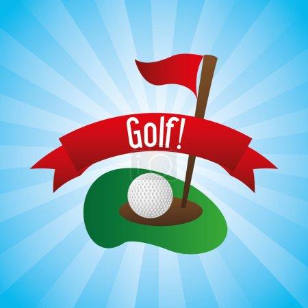 Golf design over blue background vector illustrati...